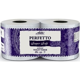 """Aster туалетная бумага """"Perfetto super soft"""" 4-х слойная, белая, 2 шт"""