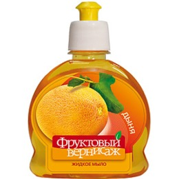 """Фруктовый вернисаж жидкое мыло для рук и тела """"Дыня"""", 250 мл"""