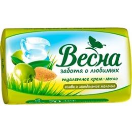 """Весна мыло """"Олива и миндальное молочко"""", 90 г"""