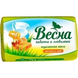 """Весна мыло """"Молоко и мед"""", 90 г"""
