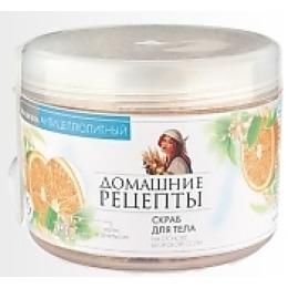 """Домашние рецепты скраб для тела """"Морская соль, лайм, апельсин"""", 500 мл"""