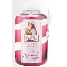 """Домашние рецепты крем-скраб для тела """"Фруктовый йогурт"""", 400 мл"""
