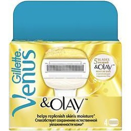 "Gillette сменные кассеты ""Venus OLAY "", 4 шт"