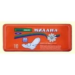 """Милана прокладки """"Maxi soft"""" гигиенческие, оранжевые, 10 шт"""