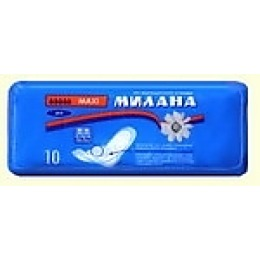 "Милана прокладки ""Maxi dry"" гигиенические, 10 шт"