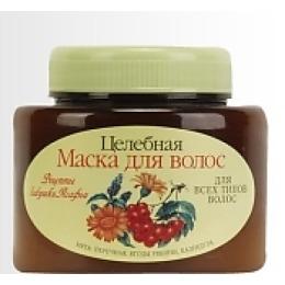 "Рецепты бабушки Агафьи маска ""Мята, рябина, календула"" для всех типов волос, 250 мл"