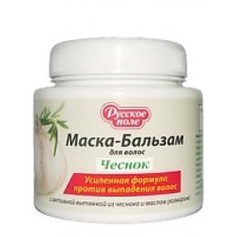 Русское поле маска-бальзам  для волос с активной вытяжкой из чеснока и маслом розмарина, 250 мл