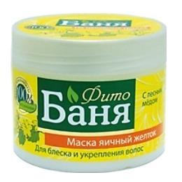 """Русское поле маска для волос """"Фито-Баня. Яичный желток"""" для блеска и укрепления волос, 300 мл"""
