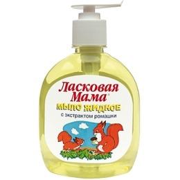"""Ласковая мама жидкое мыло """"С экстрактом ромашки"""" диспенсер, 300 мл"""