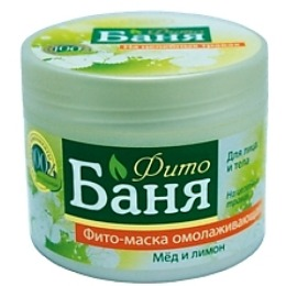 """Русское поле маска для лица и тела """"Фито-Баня. Мед и лимон"""" омолаживающая, на целебных травах, 300 мл"""