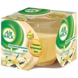 "Air Wick свеча ""Мягкость кашемира и аромат ванили"", 155 г"