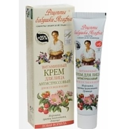 """Рецепты бабушки Агафьи крем для лица """"Витаминно-антистрессовый"""" для всех типов кожи, 40 мл"""