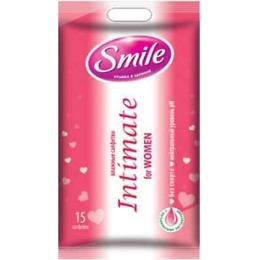 Smile влажные салфетки для интимной гигиены с натуральными экстрактами, 15 шт