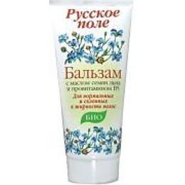 Русское поле бальзам для волос с маслом семян льна и провитамином В5, 180 мл