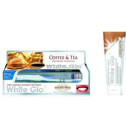 """White Glo зубная паста отбеливающая """"Для любителей кофе и чая"""", 150 г + зубная щетка + зубочистки"""