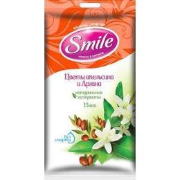 """Smile влажные салфетки """"Цветы апельсина и арганы"""", 20 шт"""