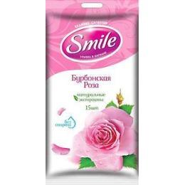 """Smile влажные салфетки """"Бурбонская роза"""", 20 шт"""