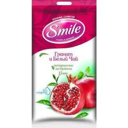 """Smile влажные салфетки """"Гранат и белый чай"""", 20 шт"""
