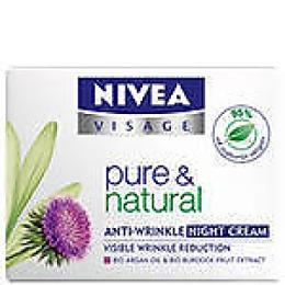 """Nivea крем для лица """"Pure Natural"""" ночной, против морщин"""