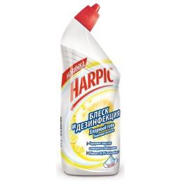 """Harpic чистящее средство """"Блеск и Дезинфекция. Лимонная Свежесть"""" с дезодорирующим эффектом, 750 мл"""