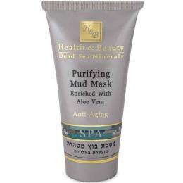 "Health Beauty маска для лица ""Грязевая"" очищающая, с алоэ вера"