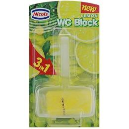 """Nicols туалетный блок """"Лимон"""" твердый, 40 г"""