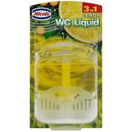 """Nicols туалетный блок """"Лимон"""" жидкий, 55 мл"""
