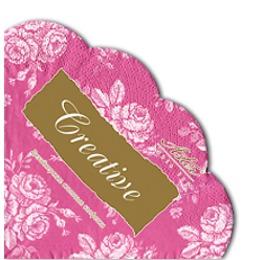 Aster салфетки круглые 320 мм, трехслойные, тон розовый винтаж, 12 шт