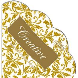 Aster салфетки круглые 320 мм, трехслойные арабески, тон бело-золотые, 12 шт
