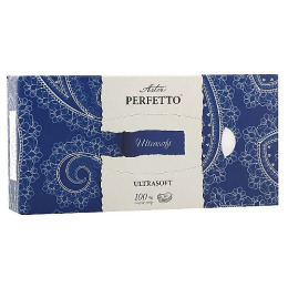 """Aster салфетки косметические """"Perfetto"""" четырехслойные, тон белые, 40 шт"""