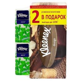"Kleenex салфетки в коробке ""Дизайн"" 70 шт + 2 платка"