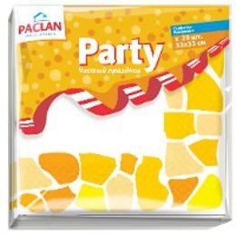 """Paclan салфетки бумажные """"Standart"""" 330x330 мм. трехслойные бумажные, 20 шт"""