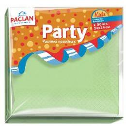 """Paclan салфетки бумажные """"Kids"""" 240x240 мм. двухслойные бумажные, тон желтые и фисташковые, 50 шт"""