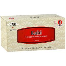 """Maneki салфетки бумажные """"Kabi"""" двухслойные, тон белые, 250 шт"""