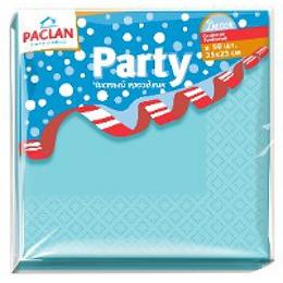 """Paclan салфетки бумажные """"Decor"""" 250x250 мм. двухслойные бумажные, тон розовые и голубые, 50 шт"""