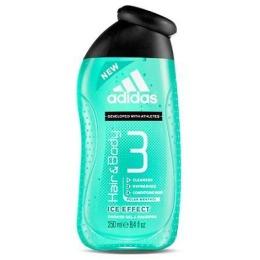 """Adidas гель для душа и шампунь """"Ice Effect"""" мужской, 250 мл"""