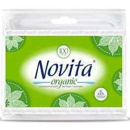 """Novita ватные палочки """"Organic"""" в полиэтиленовой упаковке, 100 шт"""