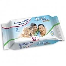 """Aura влажные салфетки """"Для всей семьи"""", 63 шт"""