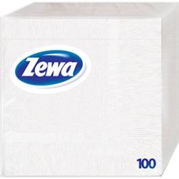 Zewa салфетки 330x330 мм. однослойные, тон белые, 100 шт