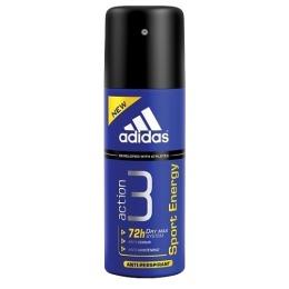 "Adidas антиперспирант ""Action 3. Sport Energy"" спрей мужской, 150 мл"