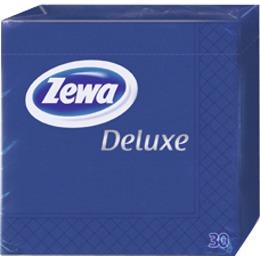 Zewa салфетки 240x240 мм. двухслойные, тон синие, 30 шт