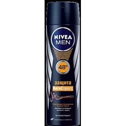 """Nivea антиперспирант """"Защита антистресс"""" спрей, мужской, 150 мл + стикер"""