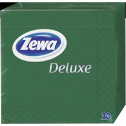 Zewa салфетки 240x240 мм. двухслойные, тон зеленые, 30 шт