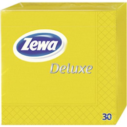 Zewa салфетки 240x240 мм. двухслойные, тон желтые, 30 шт