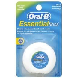 """Oral-B зубная нить """"Essential"""" вощеная, мятная, 50 м"""
