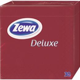 Zewa салфетки 240x240 мм. двухслойные, тон бордо, 30 шт