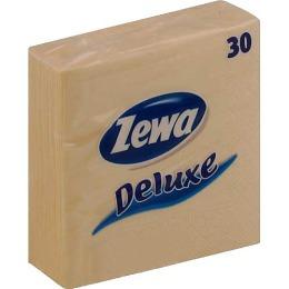 Zewa салфетки 240x240 мм. двухслойные, тон бежевые, 30 шт