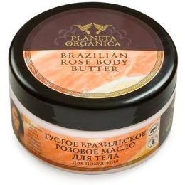 """Planeta Organica масло для тела """"Бразильское"""" густое, розовое для похудения, 300 мл"""