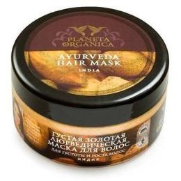 """Planeta Organica маска для волос """"Аюрведическая"""" густая, золотая, 300 мл"""