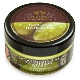 """Planeta Organica маска для волос """"Тосканская"""" густая, изумрудная, 300 мл"""